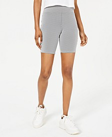 Juniors' Pinstriped Biker Shorts, Created for Macy's