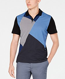 Men's Colorblocked Mesh Polo Shirt, Created for Macy's