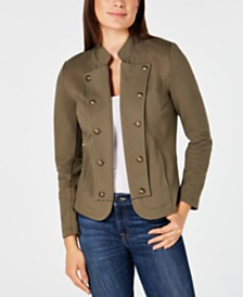 Tommy Hilfiger Open-Front Button Blazer, Created for Macy's