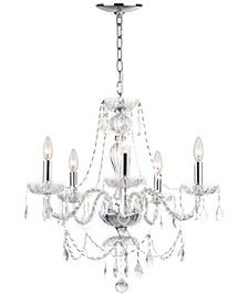 "Jingle 5 Light 22.5""D Adjustable Chandelier"