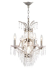"Michelle 5 Light Beaded 17.75""D Adjustable Chandelier"