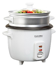 RC-8 Rice Cooker with Steam Tray 8 Cup
