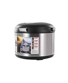 Tayama TXM-50CF Energy-Saving Thermal Cooker 5-Qt., Black