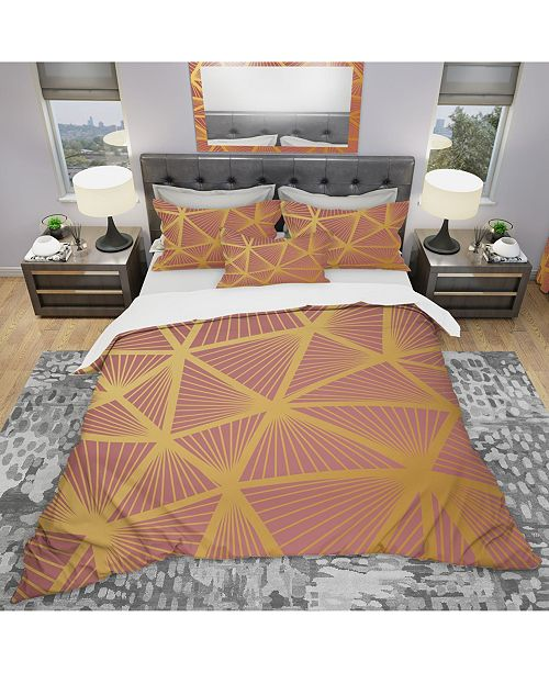 Design Art Designart 'Geometric Decorative Pattern' Modern Duvet Cover Set - King