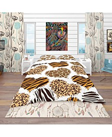 Designart 'Animal Print Style' Tropical Duvet Cover Set - King