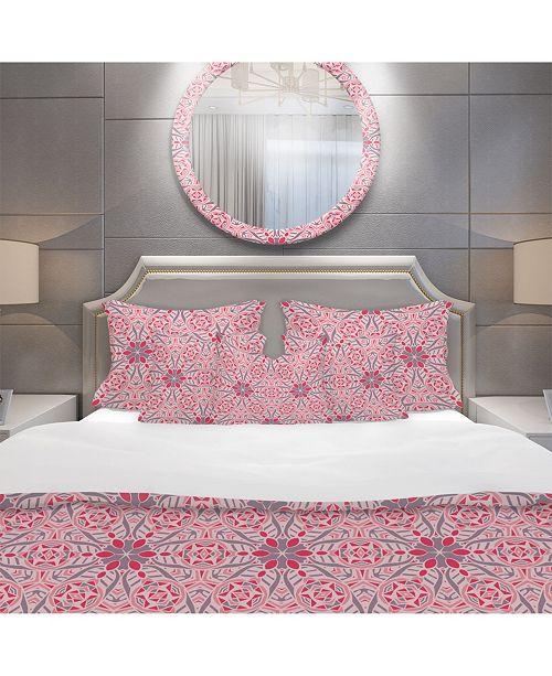 Design Art Designart 'Cute Abstract Mosaics Pattern' Bohemian and Eclectic Duvet Cover Set - King