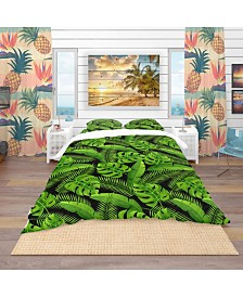 Designart 'Exotic Tropical Plants' Tropical Duvet Cover Set - Twin