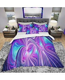 Designart 'Purple And Blue Wonder' Modern and Contemporary Duvet Cover Set - Twin