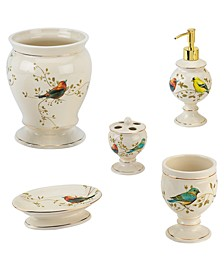 Gilded Birds 5-Pc. Bath Accessory Set