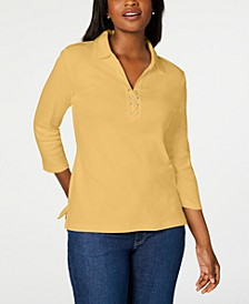 Cotton Lace-Up Shirt, Created for Macy's