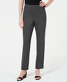Karen Scott Sport Pull-On Straight-Leg Pants, Created for Macy's