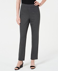Karen Scott Pull-On Straight-Leg Pants, Created for Macy's