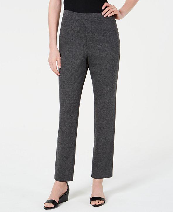 Karen Scott Sport Pull-On Straight-Leg Pants, Created for Macy's