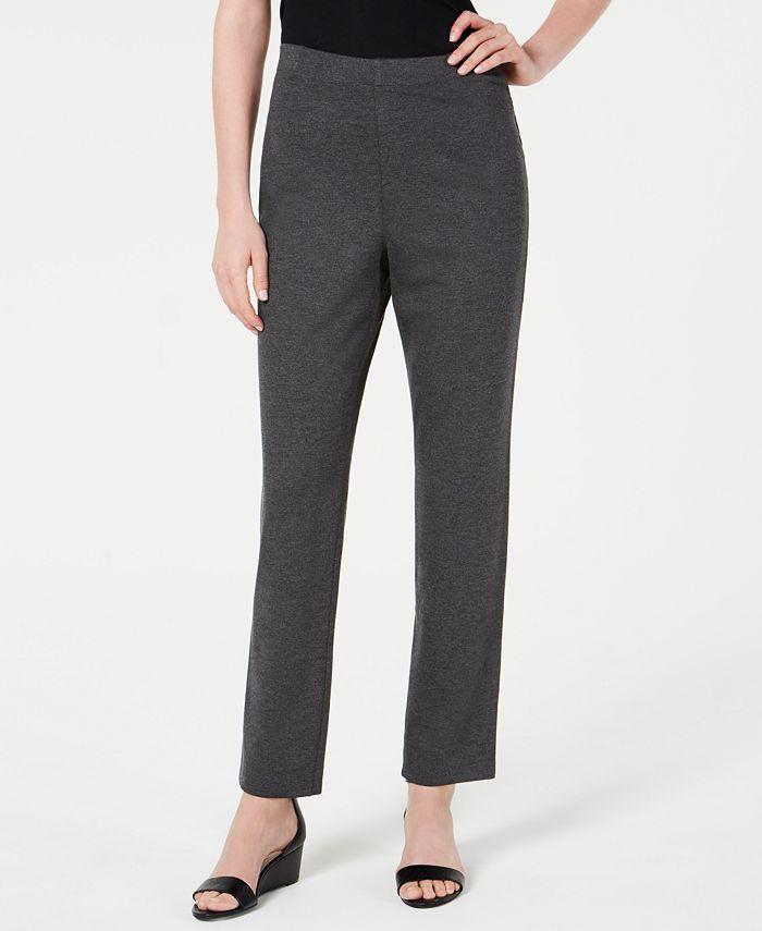 Karen Scott - Pull-On Straight-Leg Pants