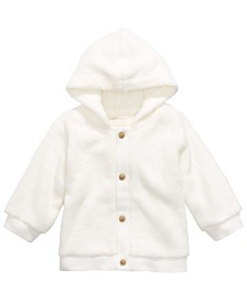 First Impressions Baby Boys & Girls Hooded Faux-Sherpa Hoodie, Created for Macy's
