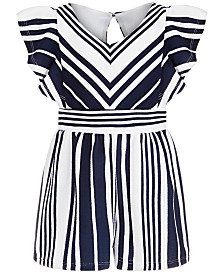 Bonnie Jean Toddler Girls Textured Striped Romper