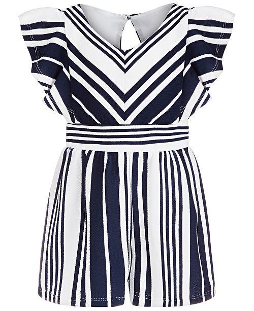 Bonnie Jean Little Girls Textured Striped Romper