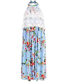Bonnie Jean Little Girls Floral-Print Halter Maxi Dress