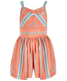 Little Girls Striped Bow Romper