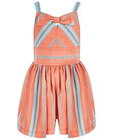 Bonnie Jean Little Girls Striped Bow Romper