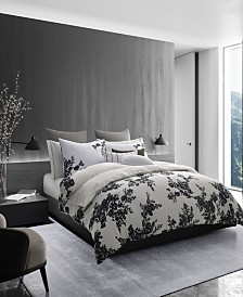 Vera Wang Ink Botanical Duvet Cover, Queen