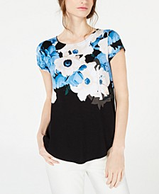 Petite Wave-Print Top, Created for Macy's