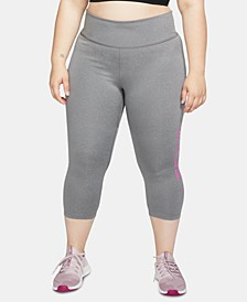 Plus Size Just Do It Cropped Leggings