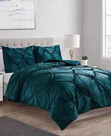 Carmen Velvet 3-Pc. Full/Queen Comforter Set