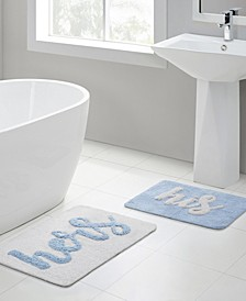His Hers 2-Pc. Bath Rug Set