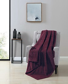 VCNY Victoria Herringbone Oversized Plush Throw Blanket