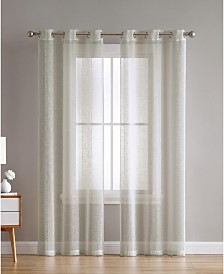 Hatfield Woven Semi Sheer 38X108 Panel Pair