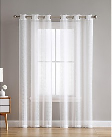 Hatfield Woven Semi Sheer 38X96 Panel Pair