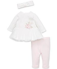 Baby Girls 3-Pc. Tunic, Leggings & Headband Set