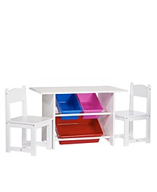 Kids Activity Table with Chairs and Bins