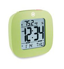 Small Compact Alarm Clock with Repeating Snooze, Light, Date and Temperature