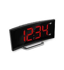 USB Alarm Clock Charger with 7 Inch Dimmable Curved Screen