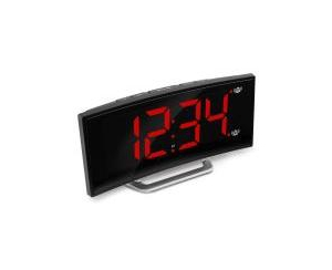 Marathon Usb Alarm Clock Charger with 7 Inch Dimmable Curved Screen