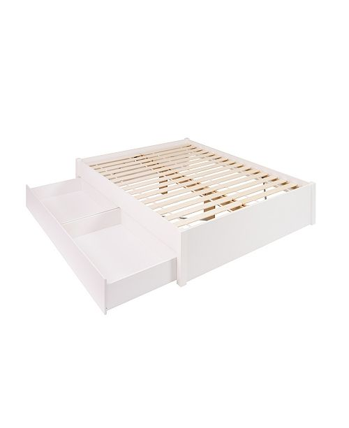Prepac Queen Select 4-Post Platform Bed with 2 Drawers