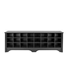 24 Pair Shoe Storage Cubby Bench