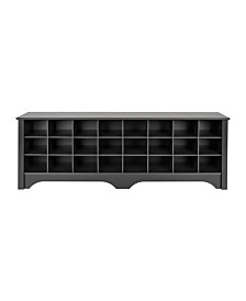 Prepac 24 Pair Shoe Storage Cubby Bench