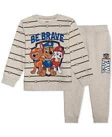 Nickelodeon Little Boys PAW Patrol 2-Pc. Sweatshirt & Joggers Set