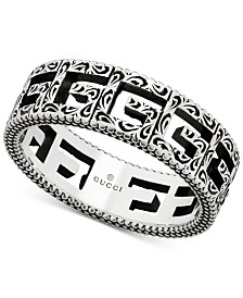 Gucci Cubed G Motif Logo Statement Ring in Sterling Silver, YBC576993001019