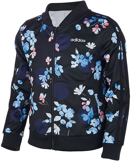 adidas Big Girls Floral-Print Jacket