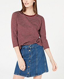 Striped 3/4-Sleeve Shirt, Created for Macy's