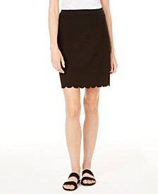 Scallop-Hem Pencil Skirt, Created for Macy's