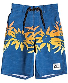 Quiksilver Big Boys Highline Choppa Printed Swim Trunks