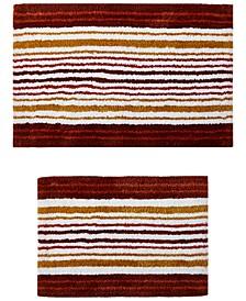 Pottery Stripe 2-Pc. Tufted Bath Rug Set