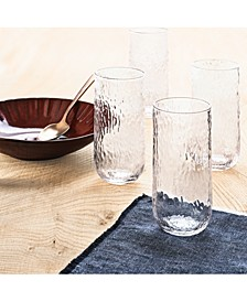 CLOSEOUT! Textured Highball Glasses, Set of 4, Created for Macy's