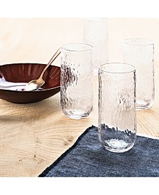 Lucky Brand Textured Highball Glasses, Set of 4, Created For Macy's