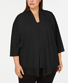 Calvin Klein Plus Size Layered Look Top